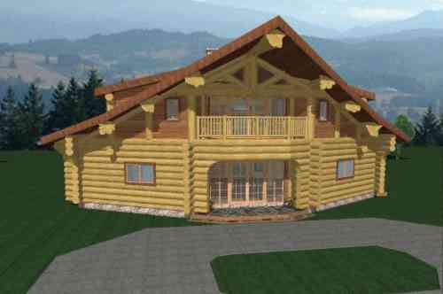 Small log cabins 800 sq ft or less with loft joy studio for 800 square foot log cabin plans
