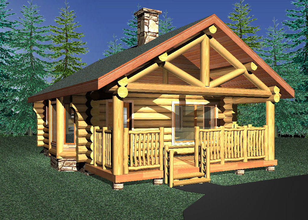 Small log cabins log cabin floorplans log cabin builders for Small log house plans
