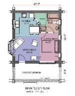 Small log cabins log cabin floorplans log cabin builders House plans less than 1500 square feet